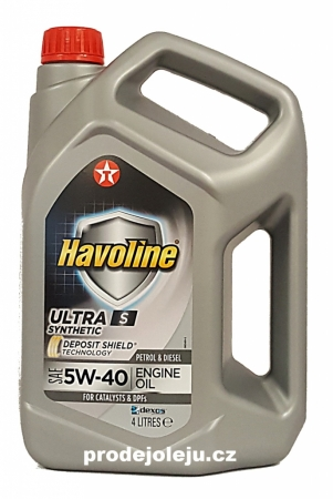 Texaco Havoline Ultra S 5W-40 - 4L