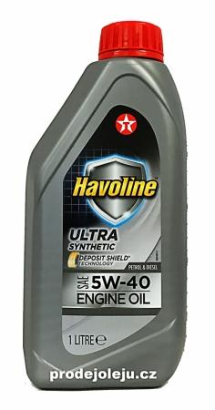 Texaco Havoline Ultra 5W-40 - 1 litr