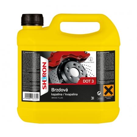 Sheron DOT 3 brzdová kapalina - 3 litry