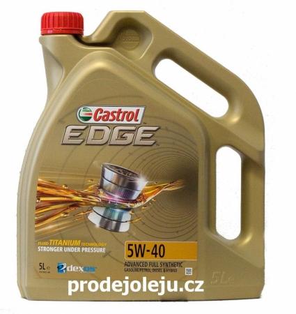 Castrol Edge Titanium 5W-40 - 5 litrů