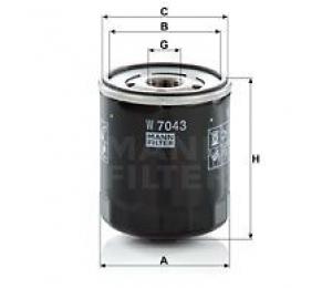 Olejový filtr MANN W7043 - 1 ks