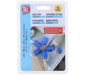 ALLRIDE Čepičky na ventilky modré, 5 ks HEXA